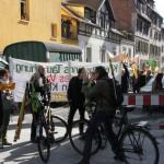 S21 Gegner solidarisieren sich mit dem Linken zentrum Lilo Herrmann