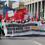 Demo vor dem Hauptbahnhof