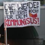 gelungene Transpiaktion vor dem Wagenburgtunnel